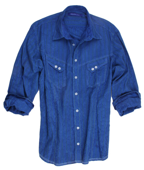Contemporary look - wood washed shirt 83% Cotton, 17% Cupro Relaxed fit Machine or hand wash cold. Hang to dry, light iron. Dry clean.