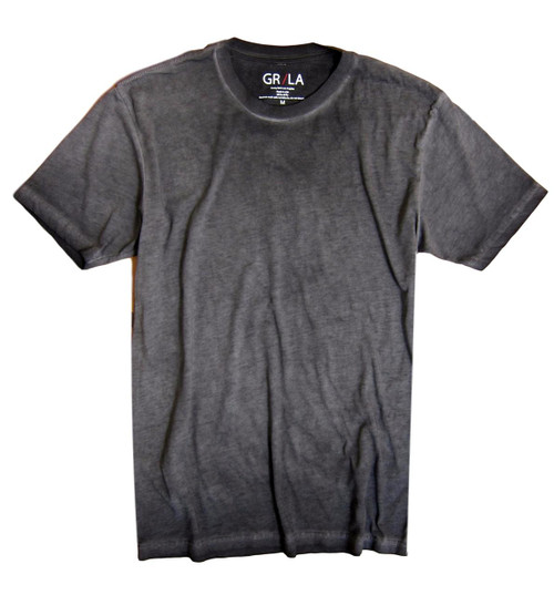 Men's Short Sleeves Crew neck T-Shirt Color Basalt Grey / Garment Dyed Made in America Sizes S - XXL 60% Cotton / 40% Polyester