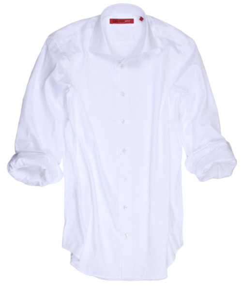 Every man needs that great dressy casual white shirt.  This is a must have in any wardrobe.  For those times you are just not sure what to wear,  you can never go wrong with this beautiful imported fabric of 100% cotton.  White on white, day or night you will feel your very best in this elegant and styled to perfection shirt as only Georg Roth creates.