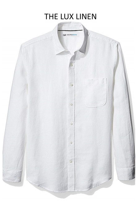 Bora Bora Long Sleeve White Linen 25015