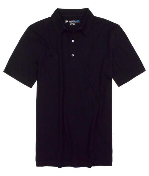 Luxury Polo Short Sleeves Pima Cotton Mens Polo Black POSS-9005