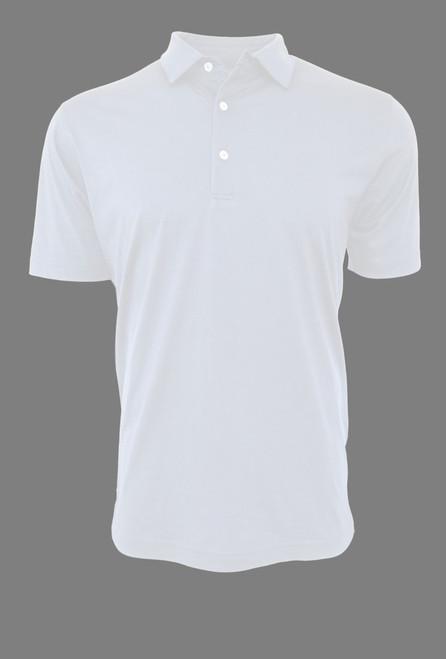 Luxury Polo Short Sleeves Pima Cotton Mens Polo White POSS-1013
