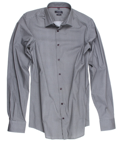 Minimal print grey stretch Mens Shirt