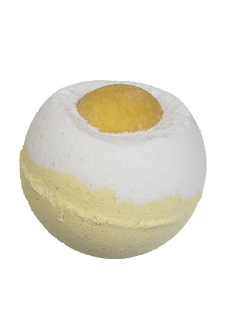 Salty Lemon with a Twist Bath Bomb with Lemon Essential Oil Lelu Soap Lab