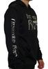 F.R. Black Hoodie (Metallic Silver Logo)