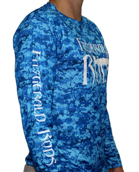 F.R. Performance Shirt Digital Camo Blue