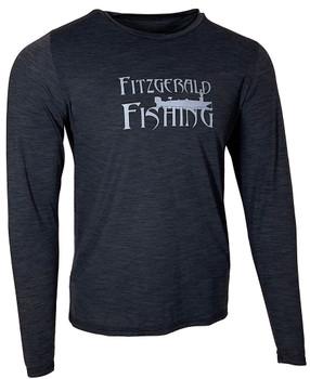 Fitzgerald Fishing Performance Sun Shirt Black