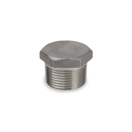 1 1/4-11.5 Hex Head Pipe Plug Stainless Steel