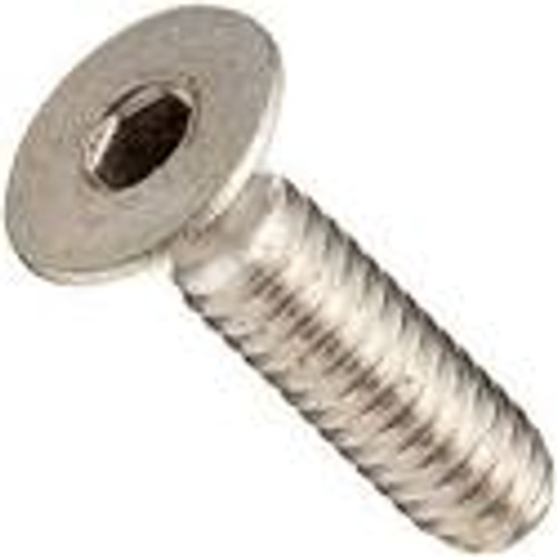 Flat Head Socket Cap Screw Stainless Steel Stock Photo