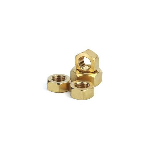 Hex Nuts Brass Stock Photo