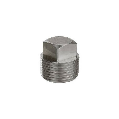 3/8-18 Square Head Pipe Plug Stainless Steel Qty 100