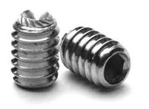 Socket Set Screw Knurled Point Stock Photo