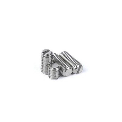 Slotted Set Screw Flat Point Stock Photo