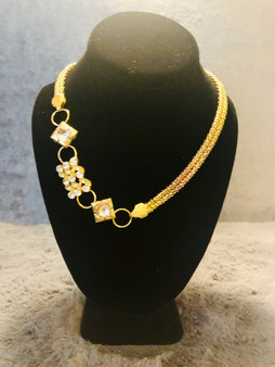 Gold and Rhinestone Necklace
