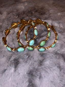 Teal Bangle Bracelet