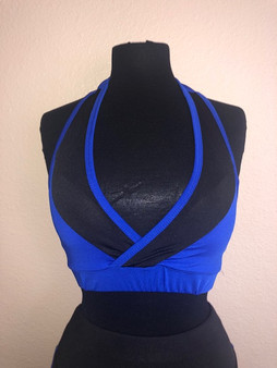 Royal Blue/Black Workout Set