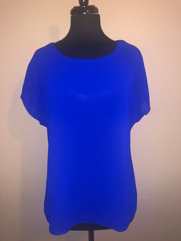 Royal Blue Cap Sleeve Blouse