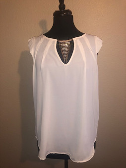 Rhinestone Drop Blouse