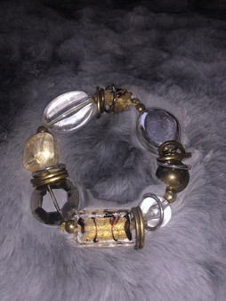 Rock Crystal and Gold Bracelet