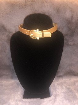Gold Buckle Choker Necklace