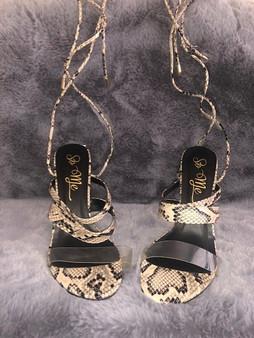 Snake Skin Strappy Heels