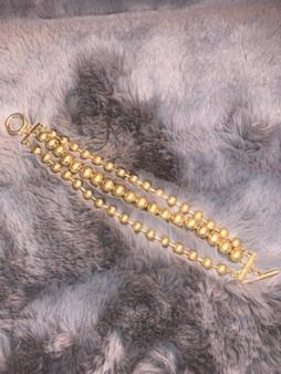 Three Strand Gold Bracelet