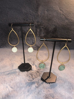 Teardrop Stone Earrings