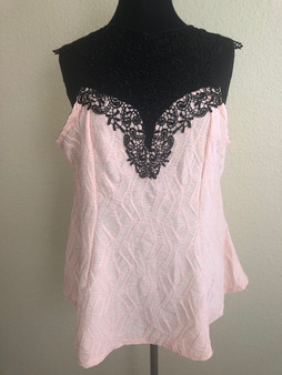 Crochet Pink Blouse