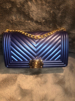 Royal Blue and Gold Purse