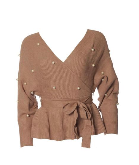 Brown Pearl Sweater