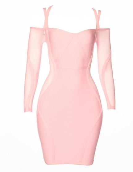 Double Strap Pink Dress