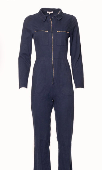 Navy Front of jumpsuit
