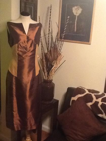 Brown Suede Dress