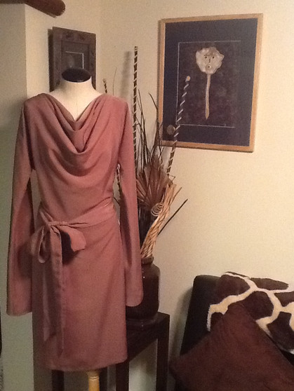 Brown Tie Front Dress