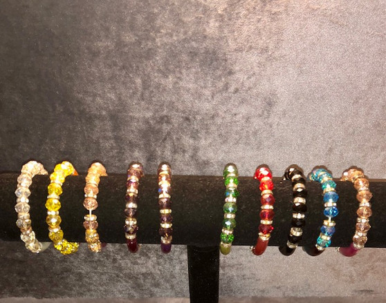 Crystal and Rhinestone Bracelet