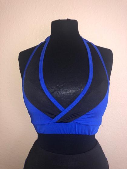 Royal Blue/Black Workout Set