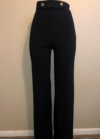 Black Pants with Gold Buttons