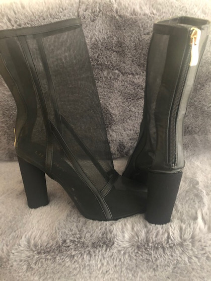 Sheer Black Ankle Boots