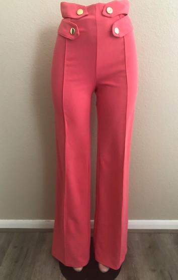 Coral High Waist Pants