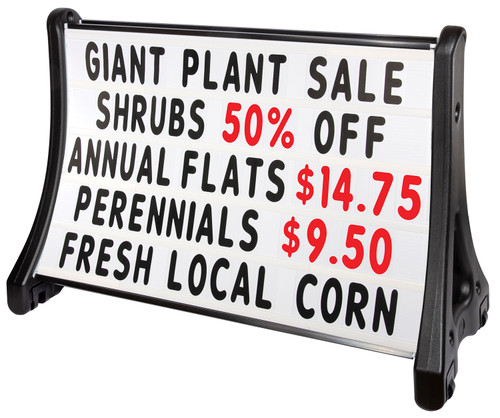 QLA-plus® Roadside Standard Message Board Sidewalk Sign