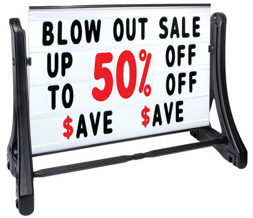 SWINGER-plus® Deluxe Message Board Roadside Sign