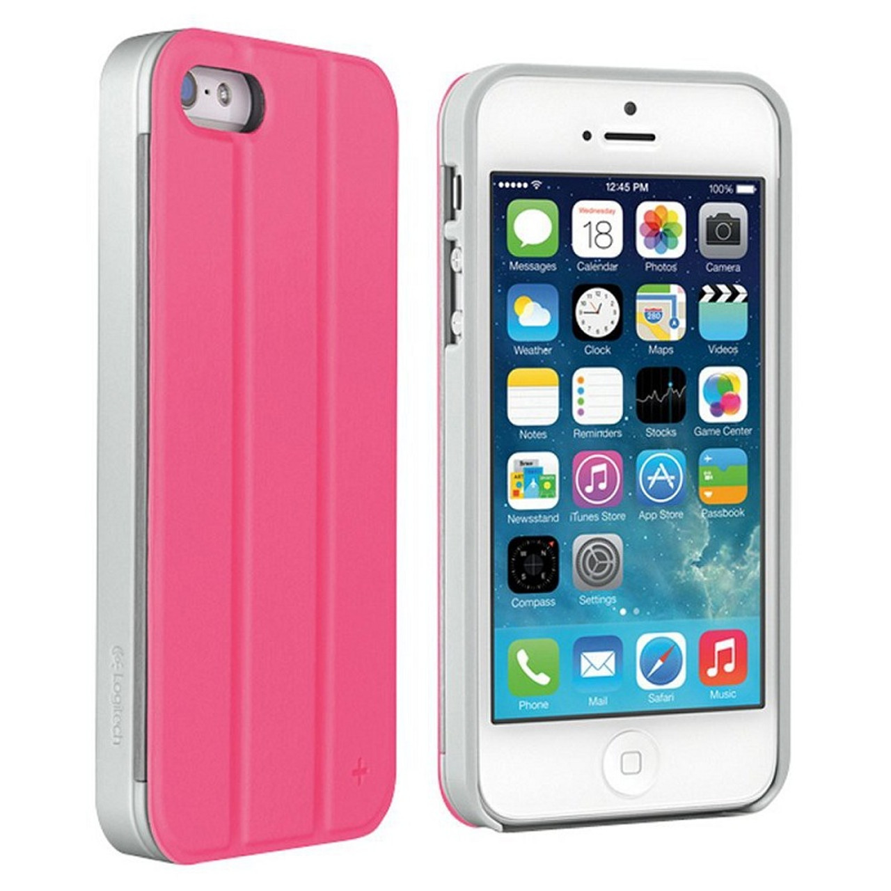 los angeles 6308e 5661c Logitech case+tilt for iPhone 5 iPhone 5s pink
