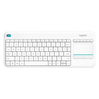 Logitech Wireless Touch Keyboard K400 Plus - PC-to-TV control - White