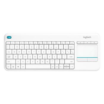 Logitech Wireless Touch Keyboard K400 Plus - PC-to-TV control - White