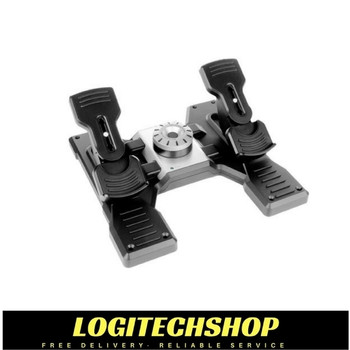Logitech Flight Rudder Pedals Pro Simulation Rudder Pedals with Toe Brake