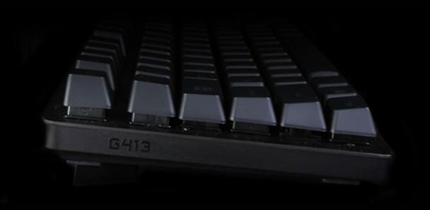 Logitech G413 Mechanical Gaming Keyboard Carbon Lightweight and high strength.