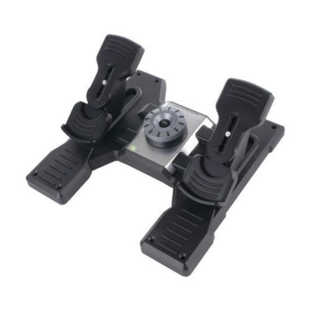 Logitech Flight Rudder Pedals Pro Simulation Rudder Pedals with Toe Brake