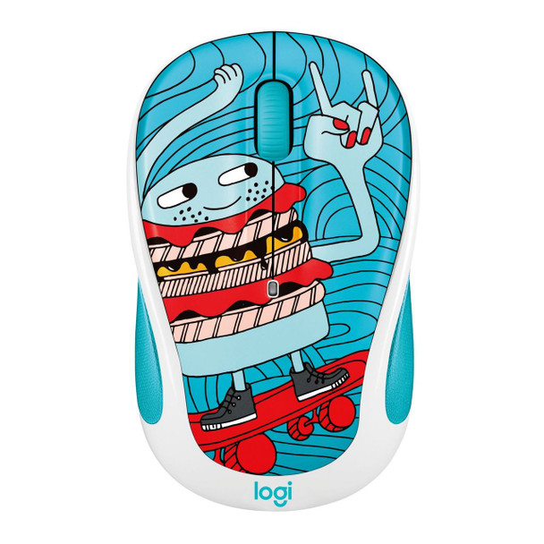 Logitech M238 Wireless Mouse Doodle Collection- Skateburger