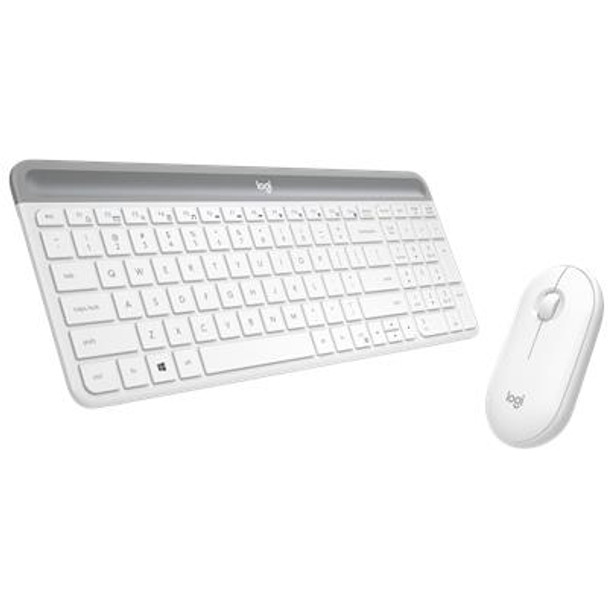 Logitech MK470 Slim Wireless Keyboard and Mouse Combo White