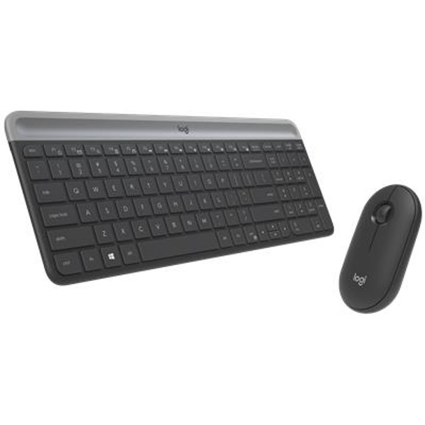 Logitech MK470 Slim Wireless Keyboard and Mouse Combo Graphite